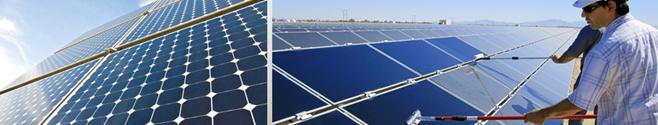 καθαρισμός φωτοβολταϊκών πάνελ