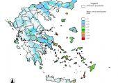 Αιολικό δυναμικό χάρτης Ελλάδας