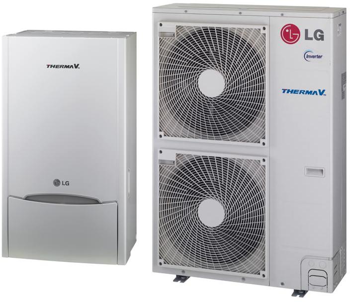 Εικόνα 2 : Αντλία θερμότητας LG ThermaV 16 KW υψηλών θερμοκρασιών