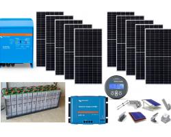 Φωτοβολταϊκό πακέτο Flexi-Solar για μόνιμη κατοικία 5.000W, φώτα, ψυγείο, TV, laptop, πλυντήριο, σίδερο, A/C κλπ