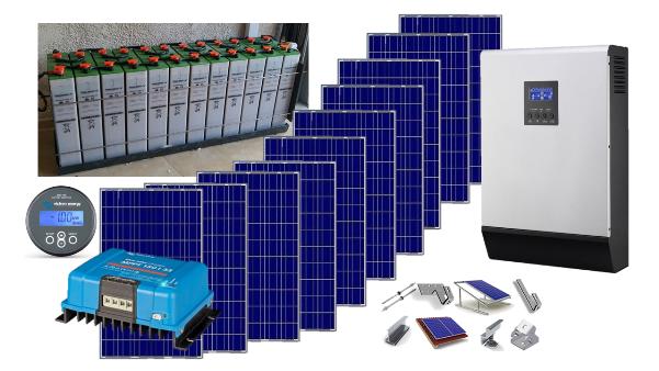 Αυτόνομο φωτοβολταϊκό KIT Ultra Solar Plus για εξοχική κατοικία