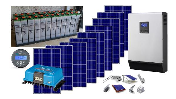 Αυτόνομο φωτοβολταϊκό πακέτο Ultra Solar για εξοχική κατοικία