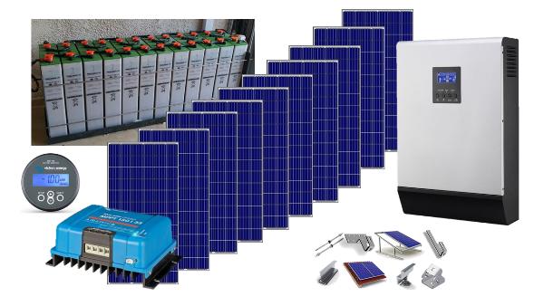Αυτόνομο φωτοβολταϊκό πακέτο Ultra Solar Plus για εξοχική κατοικία