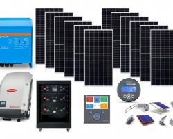 LiON ESS Flexi-Solar αυτόνομο πακέτο για μόνιμη κατοικία με μπαταρία λιθίου 10,54kWh