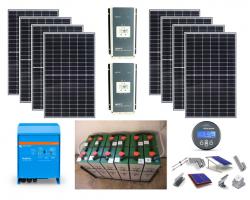 Αυτόνομο φωτοβολταϊκό για μόνιμη κατοικία – Ψυγείο, τηλεόραση, φωτισμό, πλυντήριο, αντλία νερού, Laptop, μικροσυσκευές, ανεμιστήρας, σεσουάρ, σίδερο ρούχων, κα