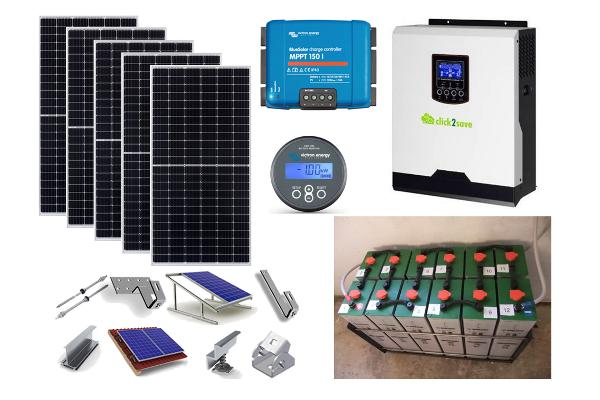 Αυτόνομο φωτοβολταϊκό πακέτο Smart Home Solar για μόνιμη κατοικία