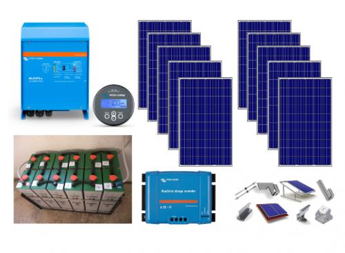 Αυτόνομο φωτοβολταϊκό πακέτο για μόνιμη κατοικία Flexi Solar