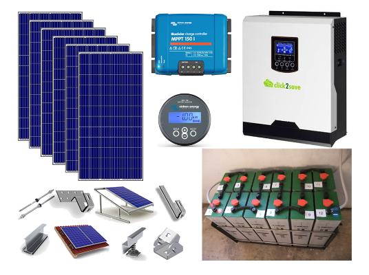 Αυτόνομο φωτοβολταϊκό πακέτο Smart Solar για μόνιμη κατοικία