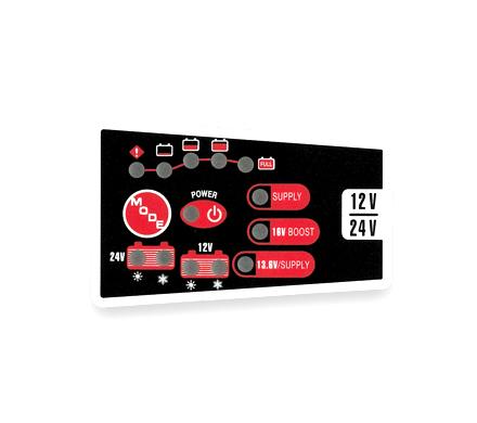Ενδείξεις φορτιστή μπαταριών 12V/24V Charge Box 7.0