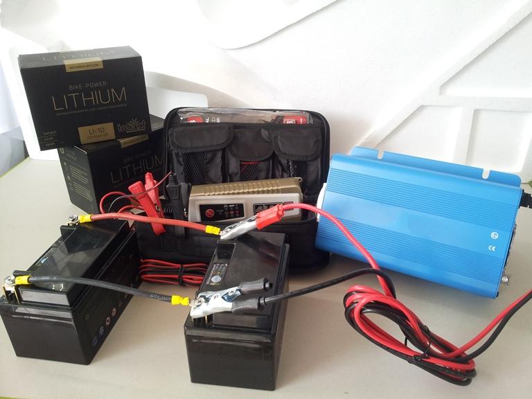 Μπαταρίες λιθίου, φορτιστής μπαταριών, ινβέρτερ από 12 σε 220V