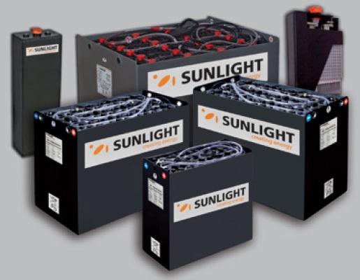 Sunlight μπαταρίες έλξεως (traction) για κλαρκ, ηλεκτρικά αμαξίδια, ανυψωτικές πλατφόρμες, βαθιάς εκφόρτισης 2V PzS & PzB