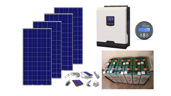 Αυτόνομο φωτοβολταϊκό KIT Top Solar Plus για εξοχική κατοικία