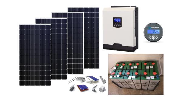 Αυτόνομο φωτοβολταϊκό πακέτο Top Solar Plus για εξοχική κατοικία