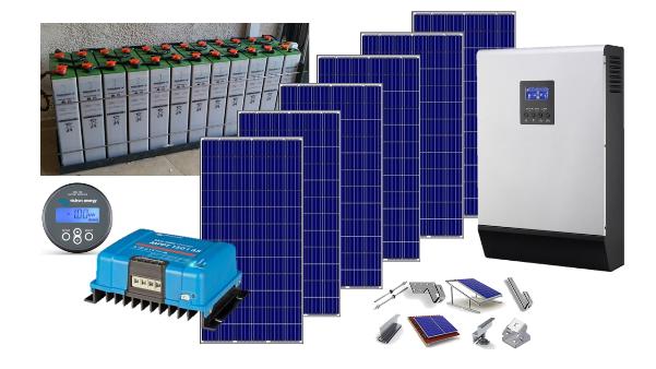 Αυτόνομο φωτοβολταϊκό KIT Premium Solar plus για εξοχική κατοικία