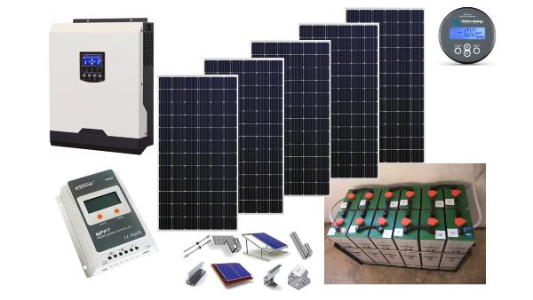 Αυτόνομο φωτοβολταϊκό πακέτο Premium Solar για εξοχική κατοικία