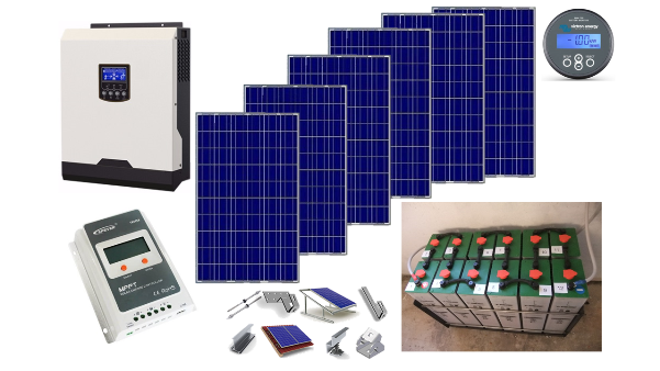 Αυτόνομο φωτοβολταϊκό ΚΙΤ Premium για εξοχική κατοικία