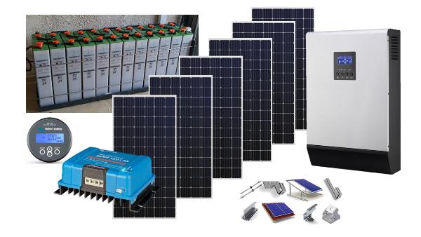 Αυτόνομο φωτοβολταϊκό πακέτο Premium Solar Plus για εξοχική κατοικία