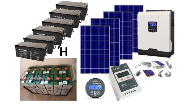 Αυτόνομο φωτοβολταϊκό πακέτο για εξοχική κατοικία Top Solar