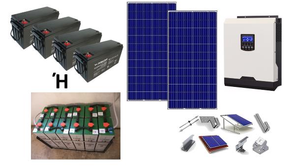 Αυτόνομο φωτοβολταϊκό πακέτο για εξοχική κατοικία Standard Solar