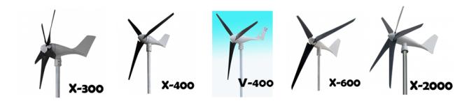 Ανεμογεννήτριες Χ-300, Χ400, V-400, X-600, X-2000 (12-24-48V)