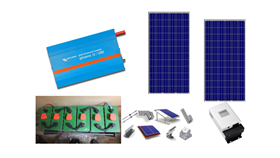 Αυτόνομο φωτοβολταϊκό πακέτο Basic Solar για μόνιμη κατοικία