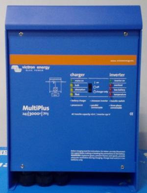 Μεταχειρισμένο ινβέρτερ με φορτιστή αυτόνομων φωτοβολταϊκών Victron Multiplus 24/3000/70-16