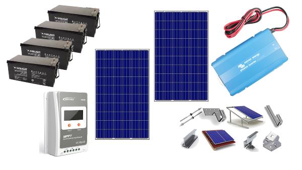 Αυτόνομο φωτοβολταϊκό πακέτο για εξοχική κατοικία Basic Solar plus