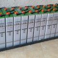 Είκοσι τέσσερις μπαταρίες βαθειάς εκφόρτισης 2V SOPzS 860Ah