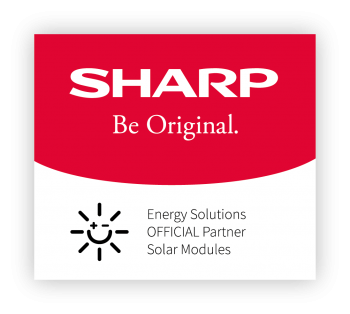 Logo of official partner with sharp energy solutions