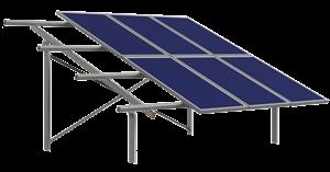 Βάση αλουμινίου φωτοβολταϊκού για έδαφος