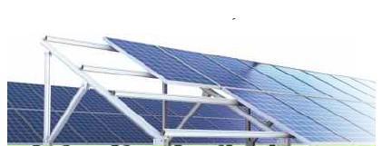 Στήριξη φωτοβολταϊκών σε διπλή σειρά σε τσιμέντο