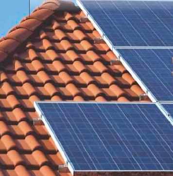 Βάση φωτοβολταϊκών για κεραμίδια-στέγη