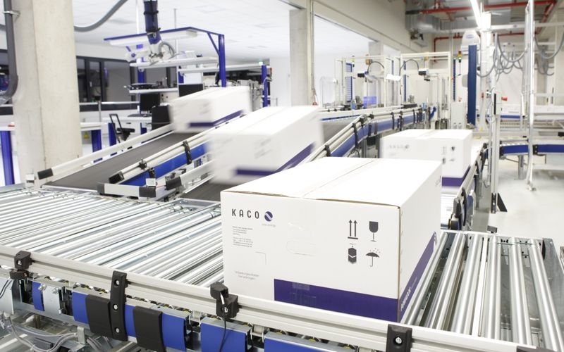 Φωτογραφία από το εσωτερικό του εργοστασίου της Kaco στη Γερμανία
