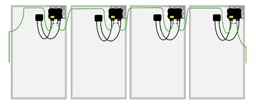 Τοποθέτηση και καλωδίωση του βελτιστοποιητή απόδοσης φωτοβολταϊκού