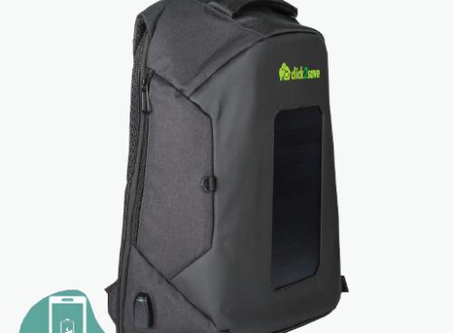 Ηλιακό σακίδιο πλάτης με USB και αντικλεπτική προστασία