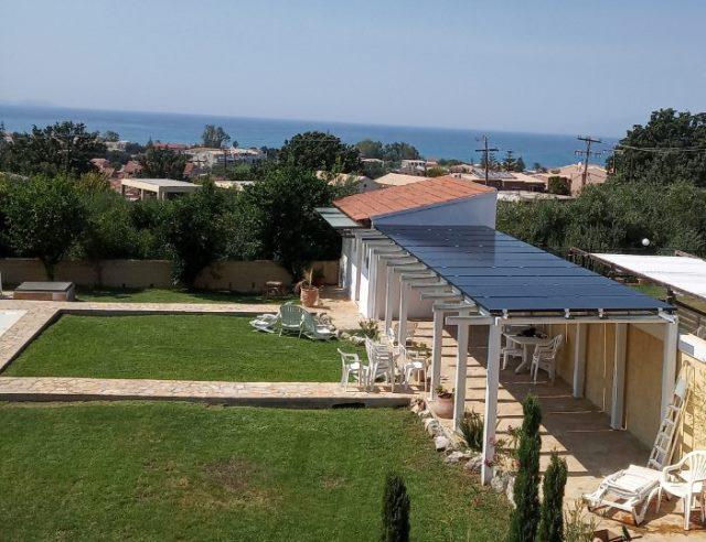 Φωτοβολταϊκά SunPower σε πέργκολα στην Κέρκυρα