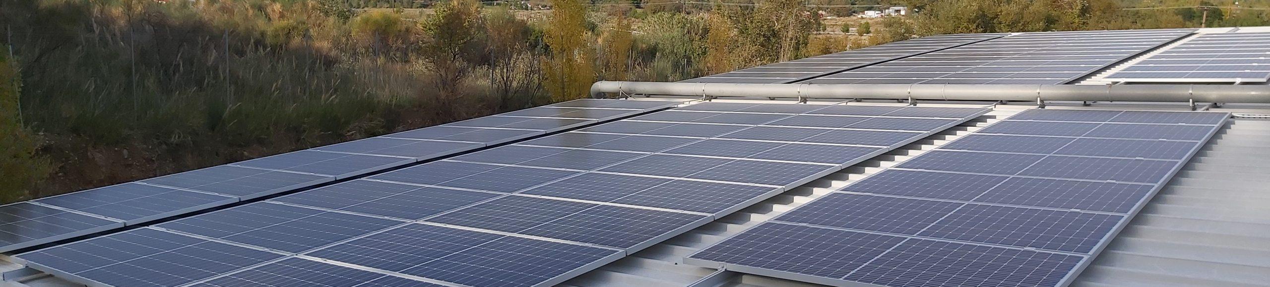 Φωτοβολταϊκό ενεργειακού συμψηφισμού σε επιχείρηση στη Δυτική Ελλάδα
